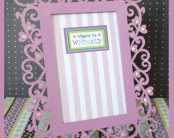 "4 x 6 Embellished Picture Frame - ""Orchid Sparkle"""