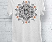 Mens Womens Tshirt Geometric Mandala Pattern