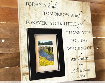 Today A Bride, PARENTS THANK YOU Wedding Frame, Thank You Gift , Father of the Bride, Grooms Parents, In-Laws Gift, Parents Gift, Father of