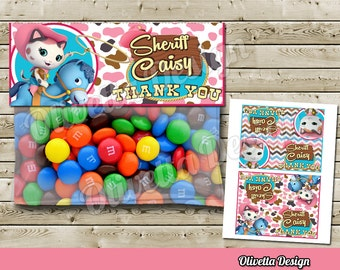 Sheriff Callie Favor Bag Toppers BIRTHDAY party Printable - 2 Models Included! Personalized - Digital File
