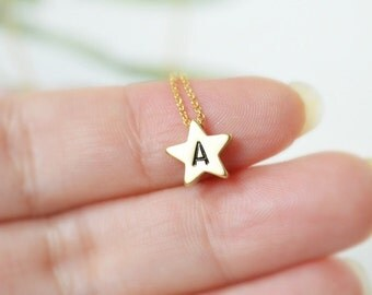 Personalized star necklace, Everyday necklace, Bridesmaid gift, Wedding necklace
