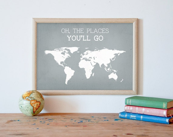Oh The Places You 39 Ll Go Kids Wall Art World By