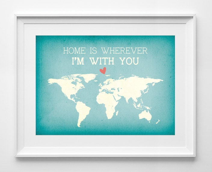 Bali tribal jewelry by printablewallstory home is wherever im by printablewallstory home is wherever im with you map print world map poster love quote anniversary engagement map art travel quote all sizes gumiabroncs Choice Image