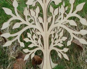 Laser cut 3d  free standing wooden wish tree