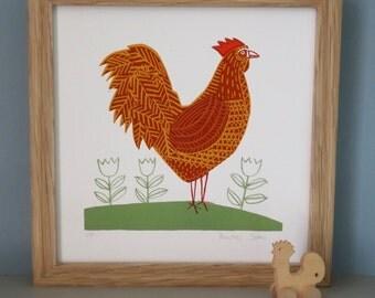 Chicken Screenprint