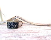 Otagiri Style Stoneware Soup Mug   Vintage Japanese Stoneware   Cobalt Blue Flowers and Vines   Ceramic Mug   Speckled Mug   Collectable