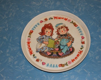 Raggedy Anne and Andy Melamine Plate