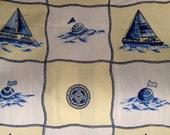Nautical Ships - Out at Sea Fabric - Coastal Fabric