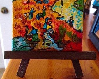 """Homage to Van Gogh's """"Red Vineyard"""""""