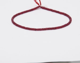 Ruby  Faceted Beads--   STRAND