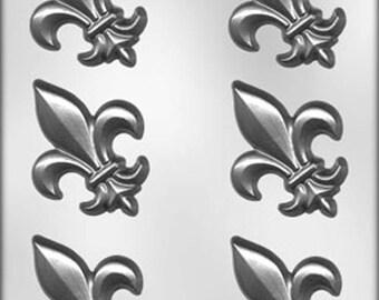 """3"""" Fleur De Lis Chocolate Candy Mold #2 Decorating Soap Plaster"""