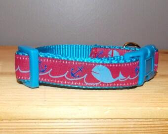 Gone Fishing Dog Collar