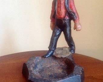 Wilton Cast Iron Amish Man Ash Tray