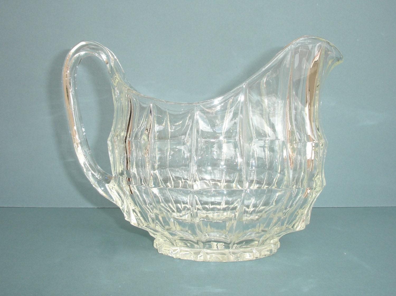 1950s vintage glass jug water jug vintage water pitcher