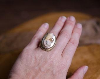 Adjustable Mermaid Seashell Ring
