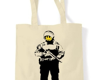 Banksy Smiley Copper Shopping Bag
