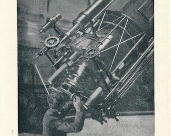 1914 Telescope Antique Astronomy Print