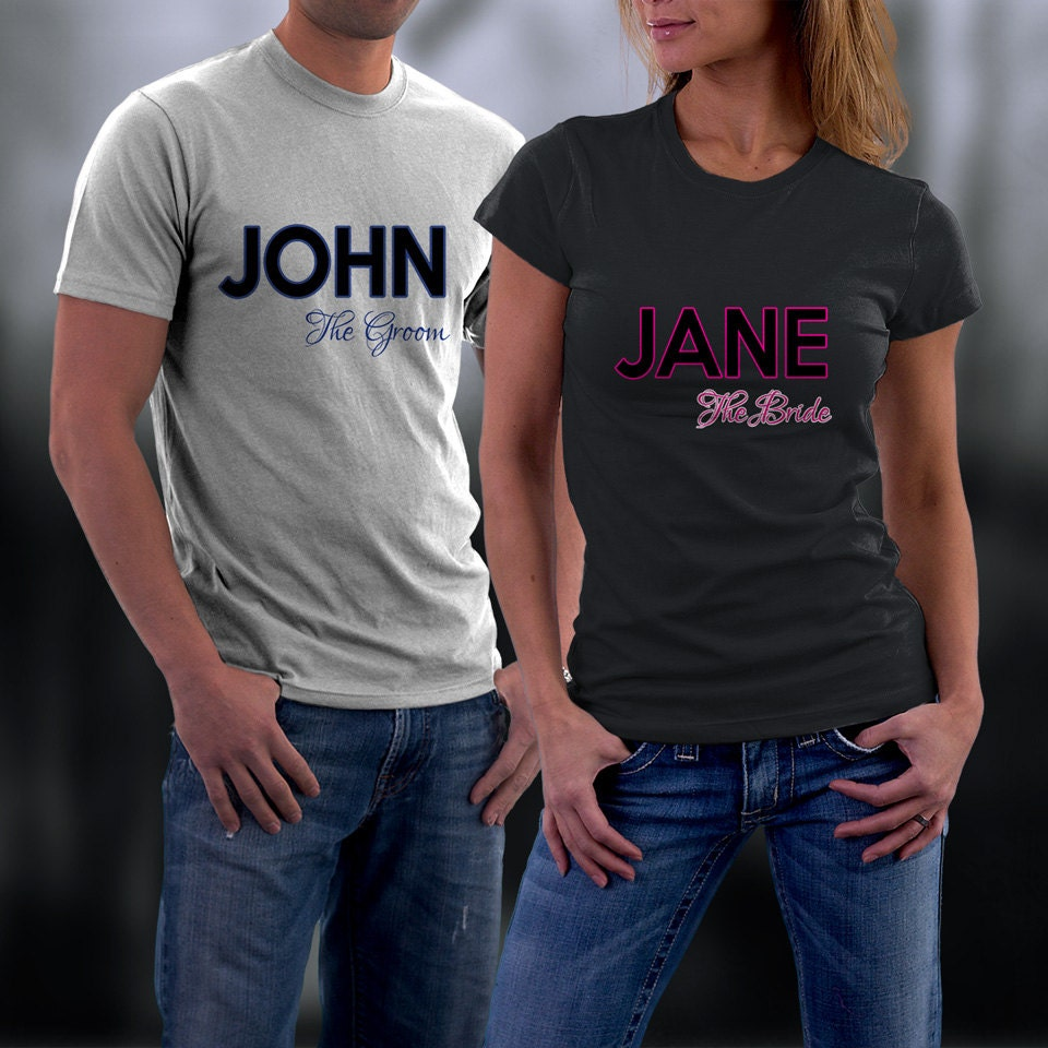 Couples Shirts Personalized Couple Shirts. by ...