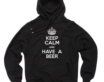 Keep Calm And Have A Beer Hoodie Gift For Beer Lover Hooded Sweater Sweatshirt