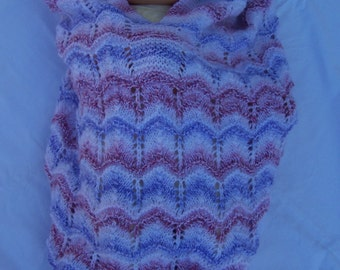 Hand Knitted Random Baby Papoose And Hat Set