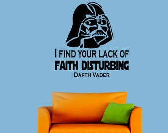 Wall Decals Dartn Vader Star Wars Quote Decal The Force I Find Your Lack Of Sticker Vinyl Decals Wall Decor Murals Z307