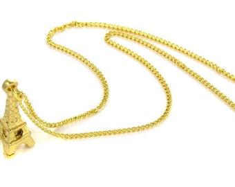 Birdhouse Jewelry - Eiffel Tower Necklace