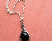 Black Onyx Art Nouveau Necklace