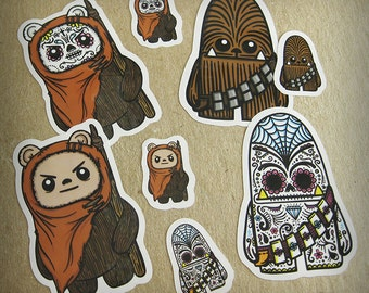 Ewok & Chewbacca Inspired Sticker Sheets