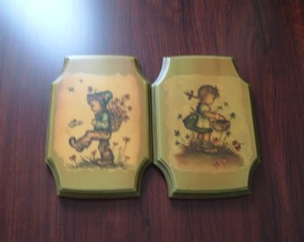 Vintage Hummel inspired plaques by Evan
