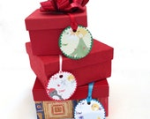 3 Gift Tags- (Penguin & Peep 3 designs) Christmas Holiday Presents Wrapping