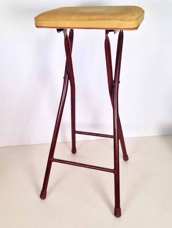 sgabello vintage - Sgabello pieghevole metallo industriale con kaki ...