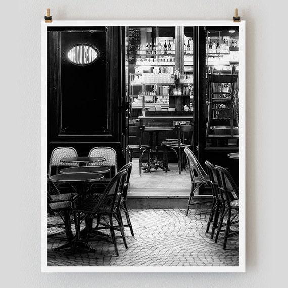 """Paris Print, Black and White Photography, """"Paris Noir 2"""" Extra Large Wall Art, Fine Art Print Paris Photography,  Film Noir"""