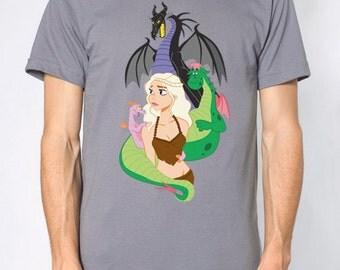 Mother Of Dragons T Shirt - Unisex - Game of Thrones Khaleesi Mashup - Slate Gray