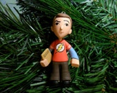 Short Time SALE Sheldon Cooper Red Shirt Only Big Bang Christmas Ornament