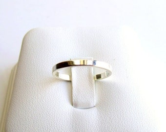 Sterling Silver Flat Wedding Ring Made To Order