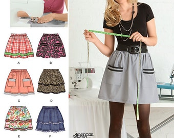 Misses SKIRT Sewing Pattern - Easy Learn to Sew Skirts - PLUS Sizes Too REDUCED