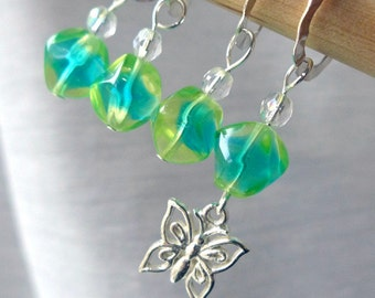 Butterfly in the Sky - Four Handmade Stitch Markers - Fits Up To 8.0mm (11 US) - Limited Edition