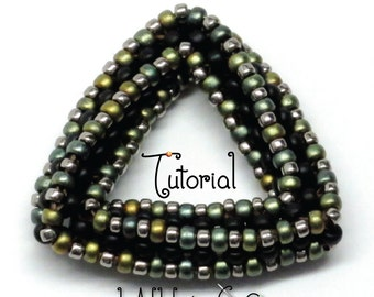 TUTORIAL Highly Unlikely Triangle with Beaded Cubic Right Angle Weave CRAW