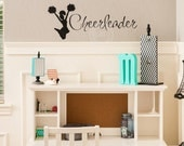 Cheerleader Decal wall saying vinyl lettering sticker art