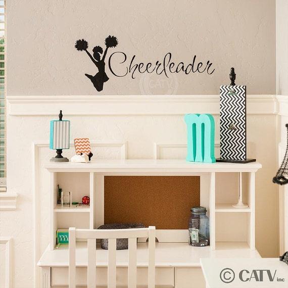 Cheerleader Decal wall saying vinyl lettering sticker art