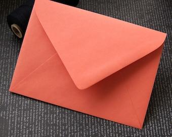 "10 Pointed Flap A7 Invitation Envelopes in Papaya .  5.25"" x 7.25"""
