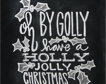 Chalkboard Print - Digital File 8x10 and 5x7 - Christmas Printable - Holiday Decor