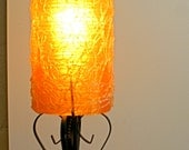 Retro Bowling Trophy Light Spun Lucite Spaghetti Shade