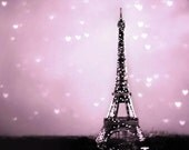 SALE, Pink Paris Baby Girl Nursery Decor, Eiffel Tower Poster, Large Wall Art, 24x24 Poster, Travel
