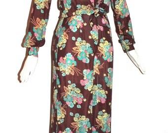 BETSEY JOHNSON Vintage Floral Jumpsuit Alley Cat 2 Piece Pant Suit - AUTHENTIC -