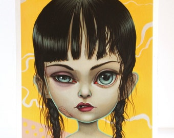 Toughie - Limited Edition signed numbered 8x10 pop surrealism lowbrow Fine Art Print by Mab Graves -unframed