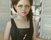 Gretel at the Witch's House. signed 8x10 Print of an Original Oil Painting