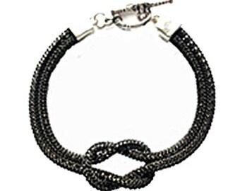SilverSilk Rockstar Love Knot Bracelet