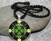 Bear Pendant Necklace Boho Chic Mandala New Age Sacred Geometry Hippie Kaleidoscope  Bear Essentials