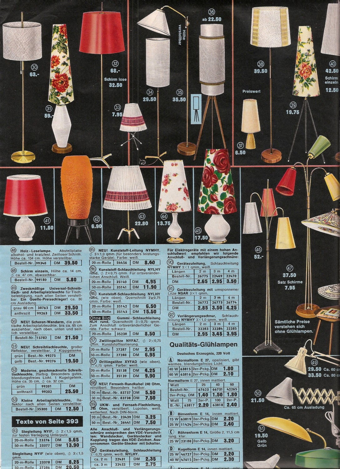 Retro lighting fixtures 1960 39 s home decor pages from an for Home decor 1960s